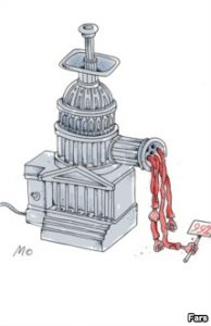 Caricatura Prabusirea Wall Street banci2