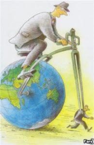 Caricatura Prabusirea Wall Street banci4