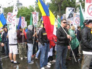 Marsul Normalitatii Noua Dreapta steag Romania