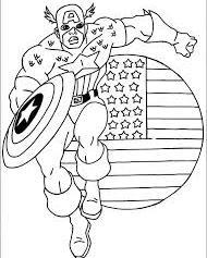 Captain America steag SUA