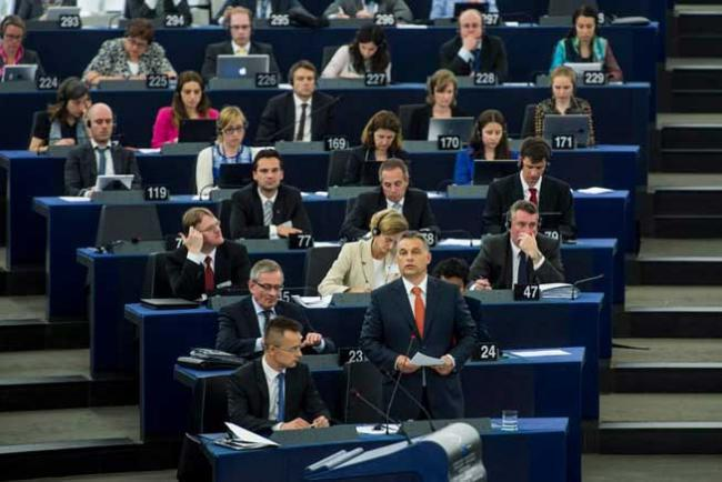 Viktor Orban in Parlamentul European