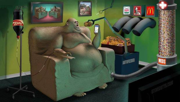 Steve Cutts Coca cola
