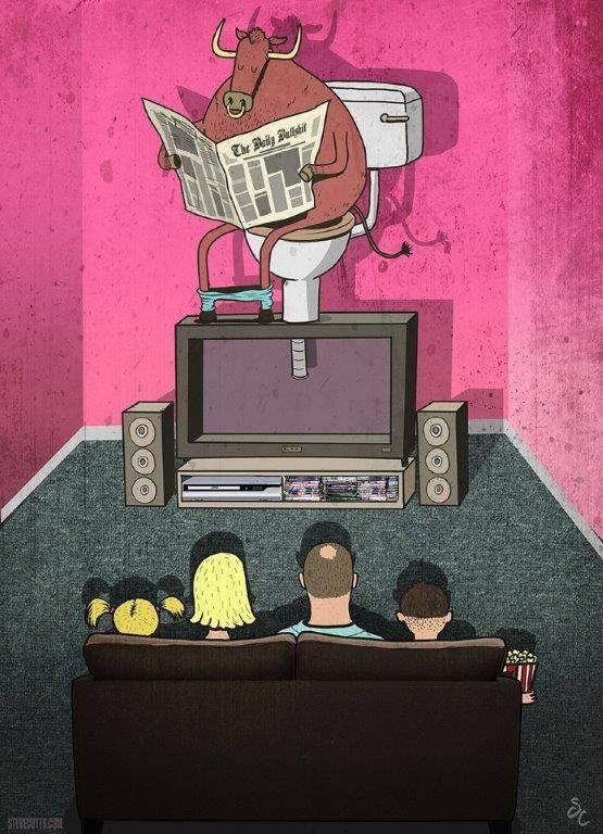Steve Cutts La televizor