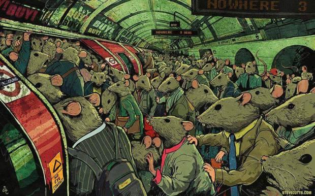Steve Cutts Metrou