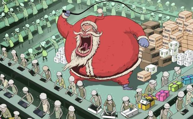 Steve Cutts Mos Craciun