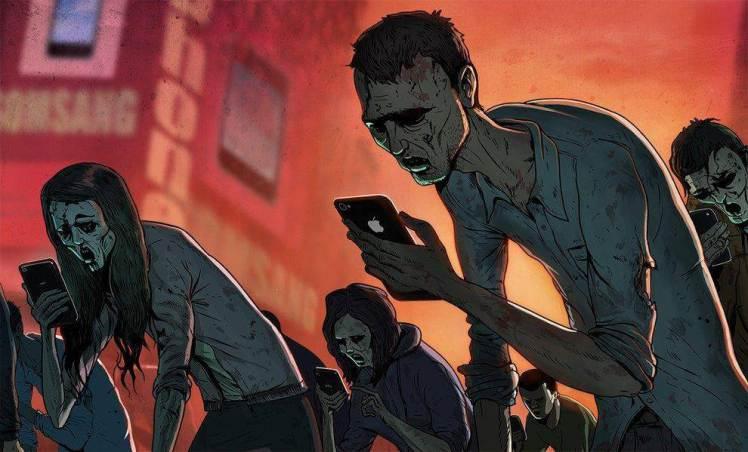 Steve Cutts Sclavii tehnologiei