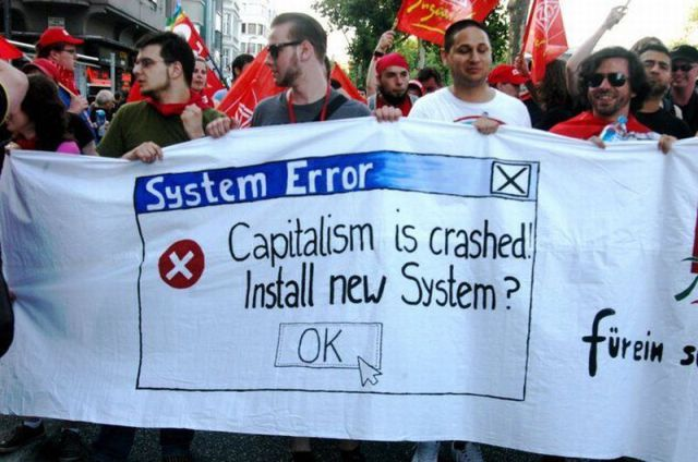 Capitalism is crashed