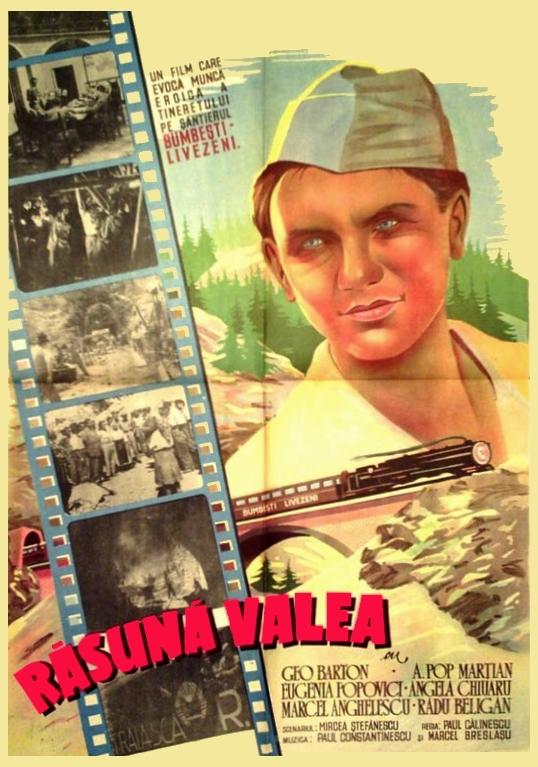 Rasuna valea poster 1950 primul film propaganda cumunist