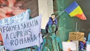 Protest Foamea saracia a cuprins Romania
