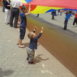 Copil copii steag tricolor