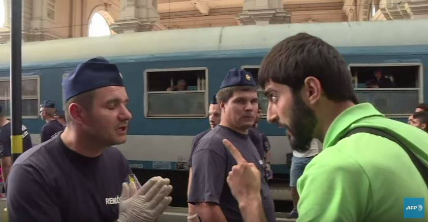 Gara Keleti Budapesta emigranti