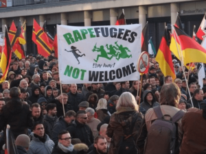Germania protest Rapefugees not welcome