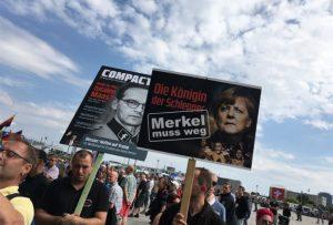 Protest Berlin Angela Merkel trebuie sa plece