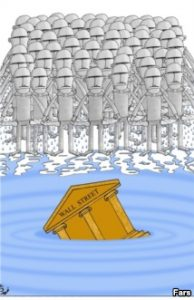 Caricatura Prabusirea Wall Street banci5