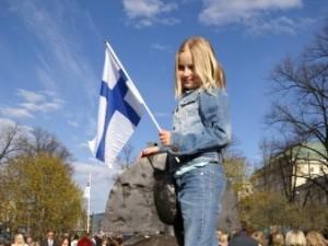 Eleva scoala finlandeza steag