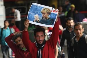 Emigrant sirian Angela Merkel