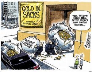 Goldman Sachs Gold in sacks