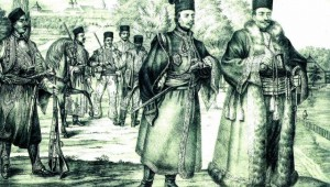 Tudor Vladimirescu si pandurii sai la Bcuresti