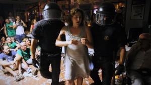 Ada Colau politie protest