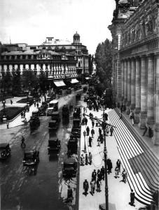 Bucuresti Calea Victoriei in fata Palatul Postei (1928) Nicolae Ionescu