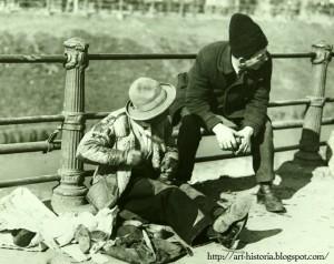 Bucuresti Dreg la ghete si papuci instalati pe cheiul Dambovitei...(1932) Nicolae Ionescu Interbelic