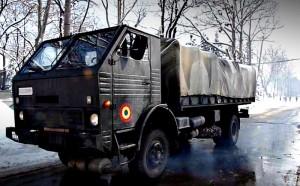 Camion armata romana