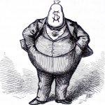 Bogat gras obez bani corupt