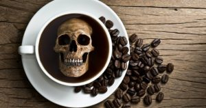 Cafea boabe cap de mort