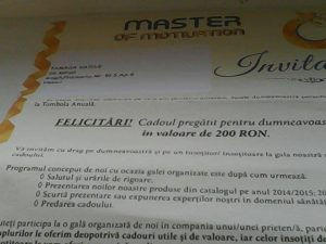 Invitatie Master of motivation