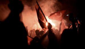 Turcia manifestatie strada noaptea