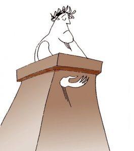 politician-cersit-tribuna-alegeri-electoral-discurs